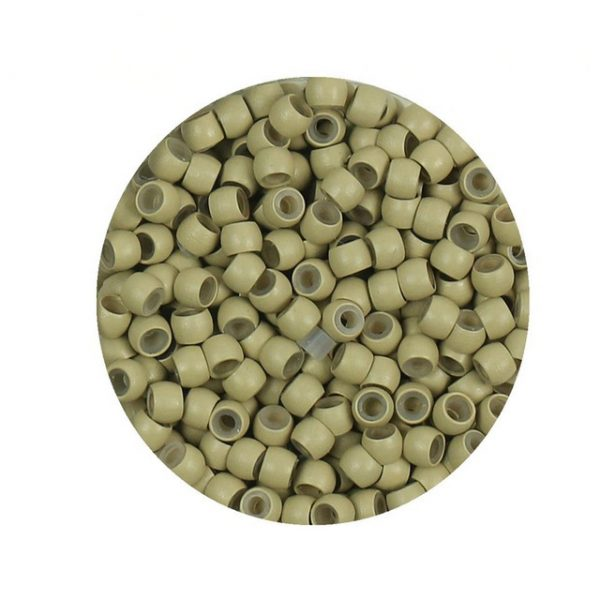Free shipping 1000 pcs 6 Medium blonde silicone nano beads Copper Nano Rings with Silicone lined.jpg 640x640