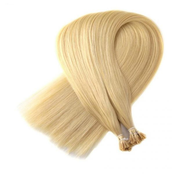 blonde straight pre bonded human hair i tip 1